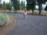 Willow's first solo bike ride without training wheels.  We will always remember Sisters, OR for this.