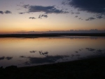 Reflected clouds at sunset, Chickahominy Reservoir, OR