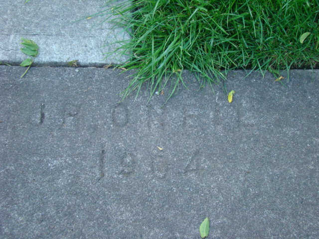 Another old sidewalk.  This is the oldest date I've found so far.  I will be excited if I find one older.