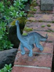 This brontosaurus is on a walkabout, too.