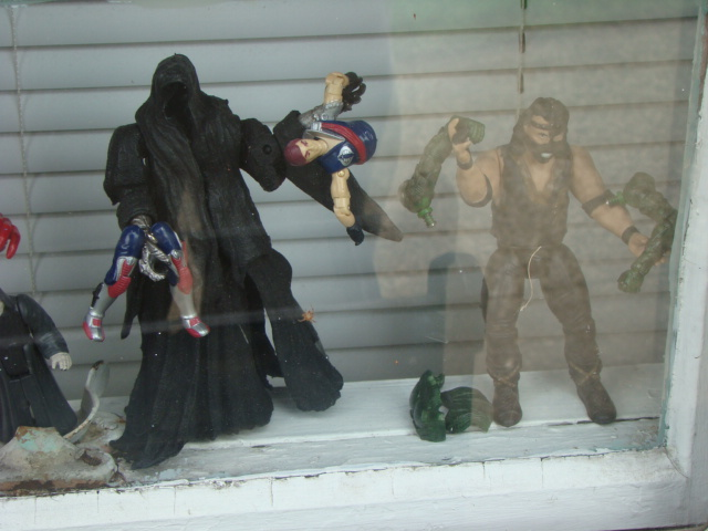 Some terribly violent toys here, ripping people into bits...  I wonder if I should be concerned, lol.