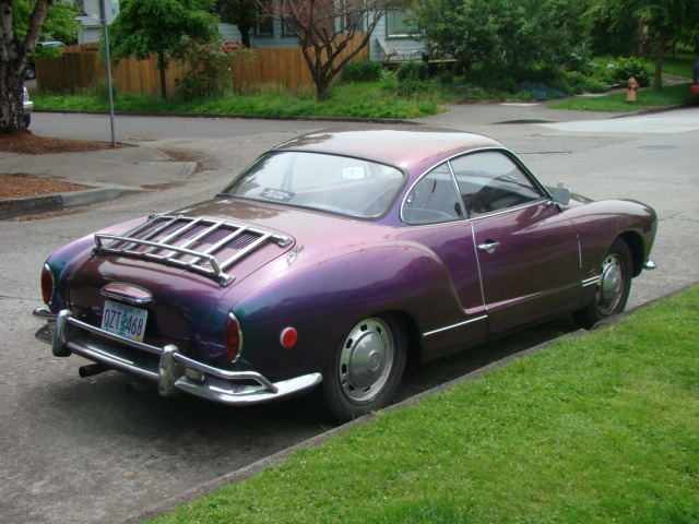 No, it's a purple car!  The perfect car for pulling nefarious crimes.  Witnesses would never be able to describe it properly.  Dang color change paint.