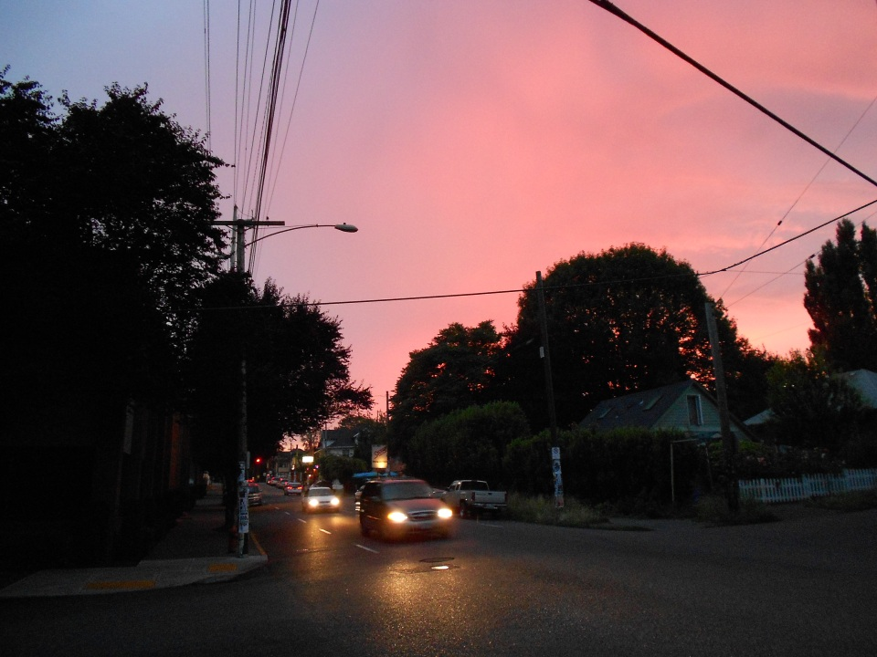 sunset on Stark Street
