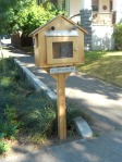 This lending library box is a neat idea.