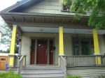While other houses reveled in their color, this house took a more conservative approach and merely painted the posts yellow.